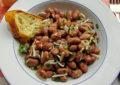 Contorno di fagioli con cipolla, menta e pecorino