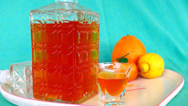Agrumello, liquore di agrumi a base di arance, limoni e mandarini