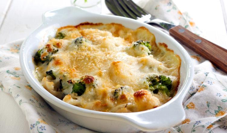 Cavolfiore e broccoli gratinati