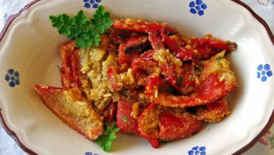 Peperoni con la mollica, versione tipica siciliana