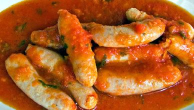Salsicce in umido