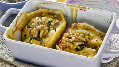 Mele al forno con noci e pistacchi