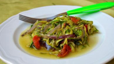 Contorno di zucchine in casseruola con pecorino