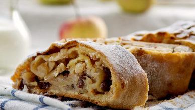 Lo strudel di mele del Trentino Alto Adige