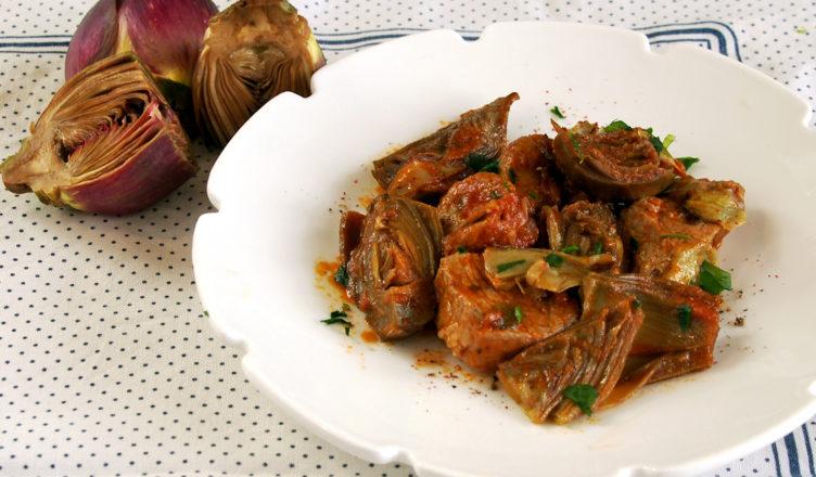 Spezzatino misto di carne maritata con carciofi