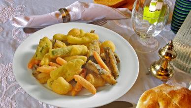 Fritto all'italiana: verdure fritte dorate