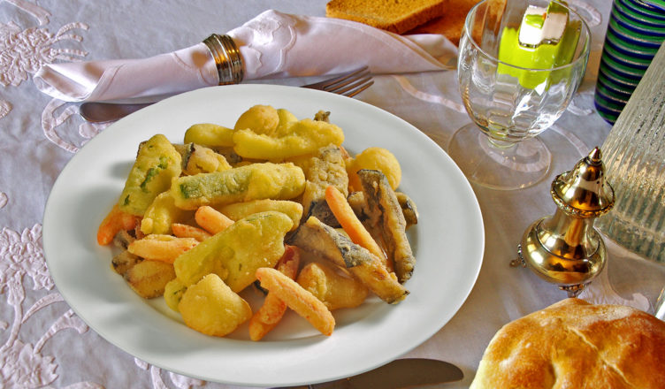 Fritto all'italiana: verdure fritte dorate