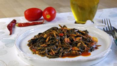 Cicoria ripassata al pomodoro- Abruzzo