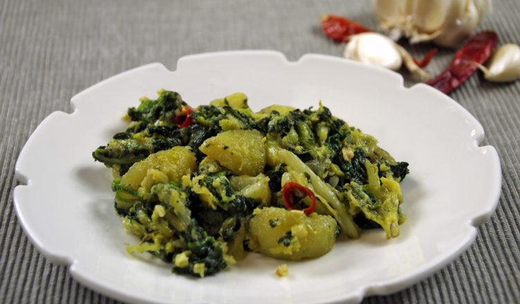 Foje strascinate ovvero verdure miste ripassate con patate alla marchigiana