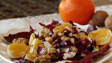 Insalata di radicchio arance e noci