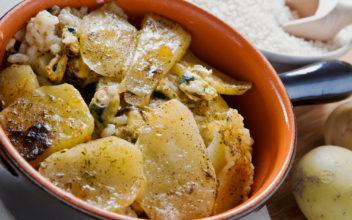 Tiella barese di riso cozze e patate 2