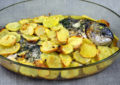 Orata al forno alla pugliese, con patate e pecorino