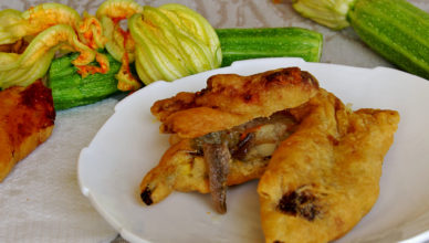 Fiori di zucca alla romana, fritti dorati