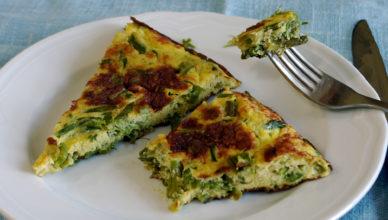 Frittata con gli asparagi selvatici