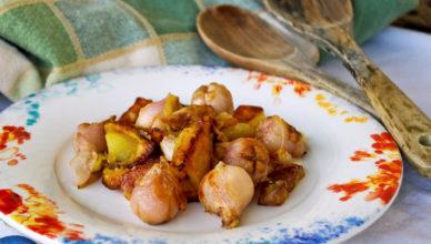 Lampascioni e patate in padella, alla calabrese