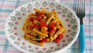 Pasta con peperoni, ricetta tipica lucana