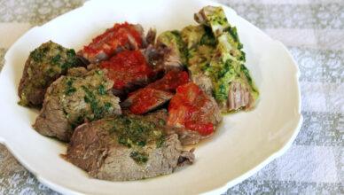 Tris di salse per carni bollite e grigliate